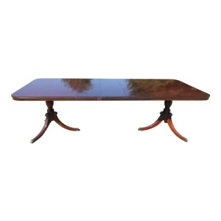 Vintage Drexel Mahogany Dining Table With 3 Leaves For Sale