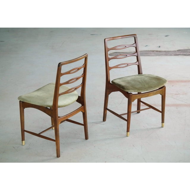 Ole Wanscher Set of Six Ole Wanscher Attributed Danish Midcentury Dining Chairs For Sale - Image 4 of 10