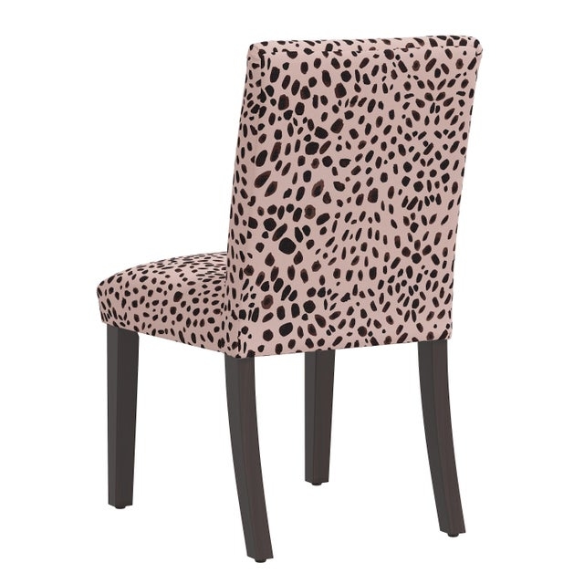Dining Chair in Washed Cheetah Pink Black For Sale - Image 4 of 8