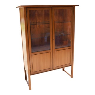 1963 Herbert Hirche Mid Century Modern Walnut China Cabinet For Sale