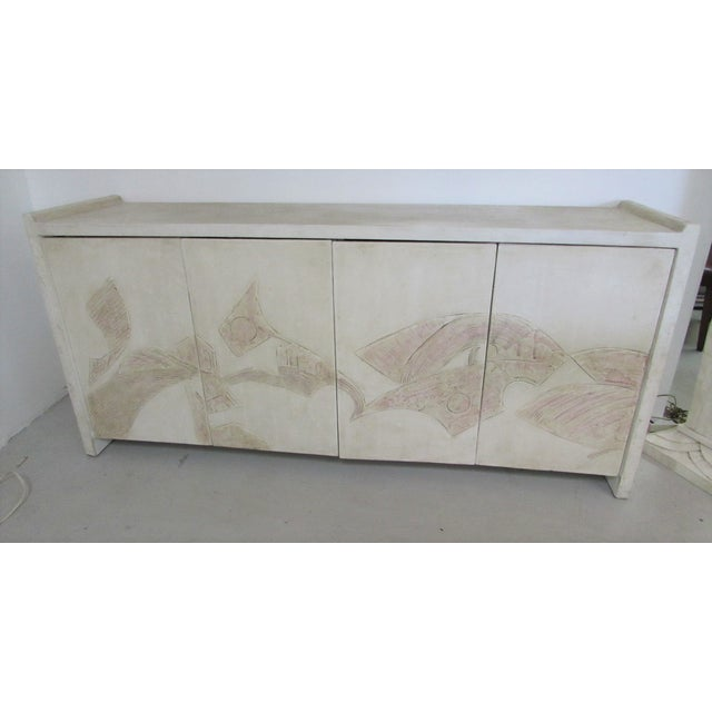 1980's Bass Relief Plaster Cabinet by Bardol - Image 2 of 5