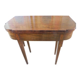 Antique Demi-Lune Mahogany Marquetry Extension Table For Sale