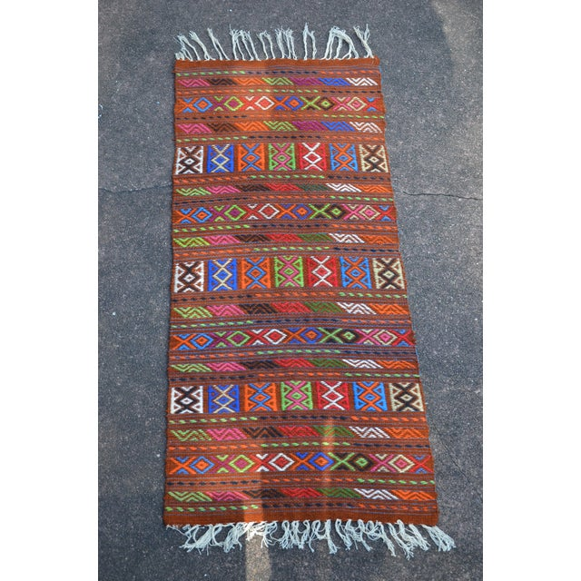 Peruvian Style Patterned Rug - 1′9″ × 4′3″ - Image 2 of 7