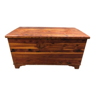 Antique Gimbel Brothers Solid Wood Chest For Sale