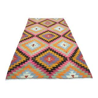 1960s Vintage Turkish Antalya Nomads Kilim Rug For Sale