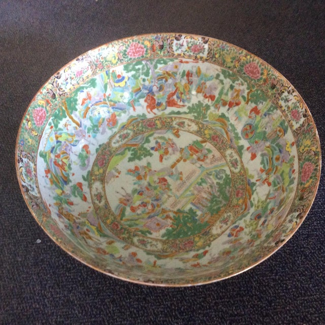 Chinese Export Punch Bowl For Sale - Image 9 of 9