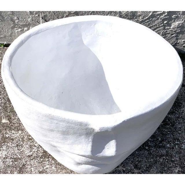 Modern Cast Stone Half Face Planter For Sale In Greensboro - Image 6 of 7
