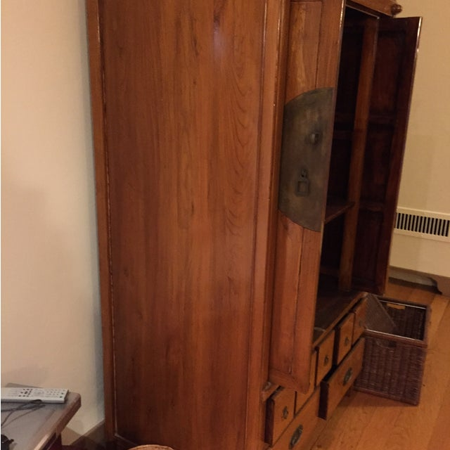 Chinese Medallion Cabinet/Armoire - Image 4 of 6