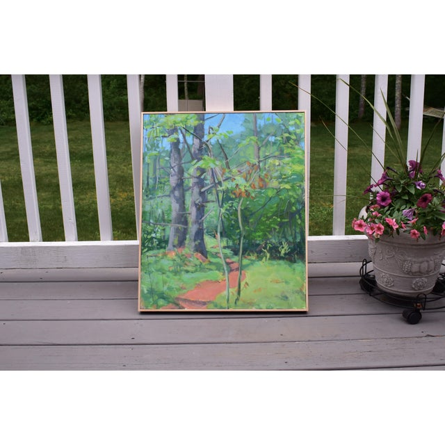 "Paint ""Path With Two White Pines"". Contemporary Plein Air Painting by Stephen Remick For Sale - Image 7 of 7"