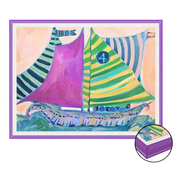 SB Staniel Cay by Lulu DK in Dark Purple Transparent Acrylic Shadowbox, Medium Art Print For Sale