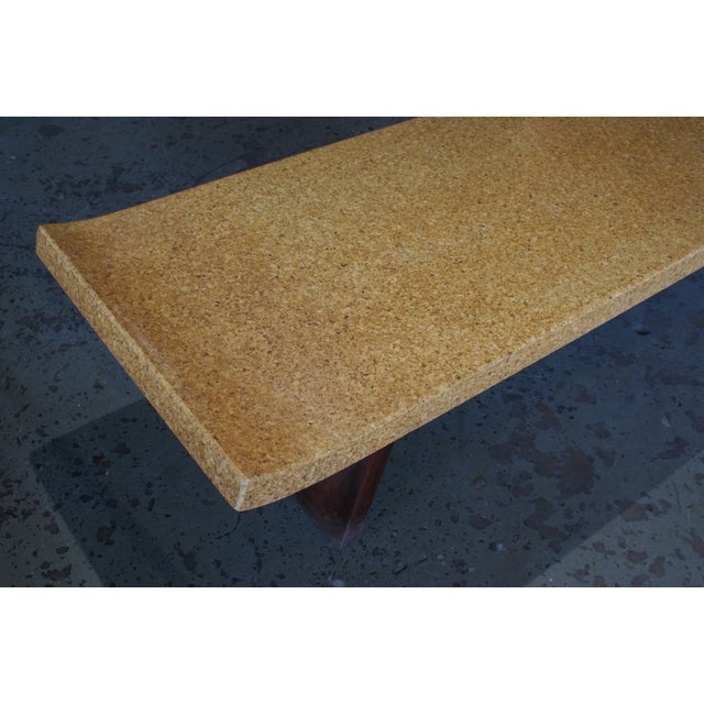 Paul Frankl Refinished Cork Top Coffee Table by Paul Frankl For Sale - Image 4 of 5