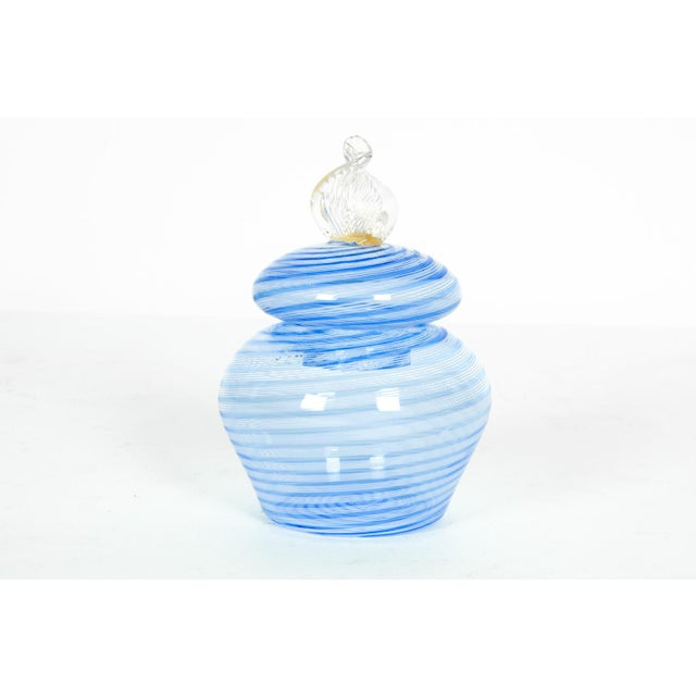 Murano Glass Covered Vanity Jar For Sale In New York - Image 6 of 6