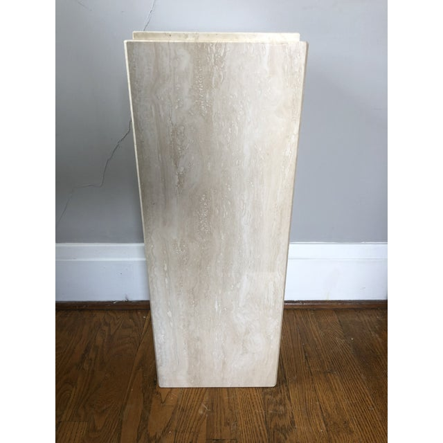Mid 20th Century Vintage Travertine Pedestal For Sale - Image 5 of 5
