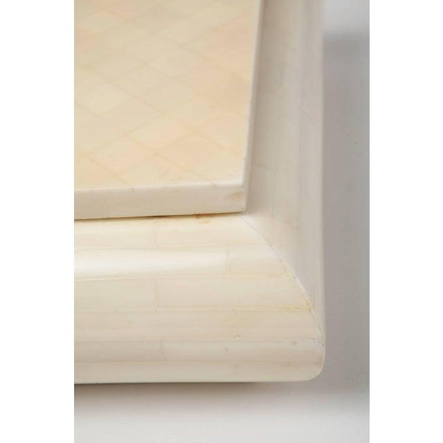 White Large Alberto Escobar Tessellated Bone Box, Circa 1980 For Sale - Image 8 of 11