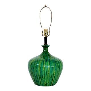 Mid-Century Drip Glaze Lamp