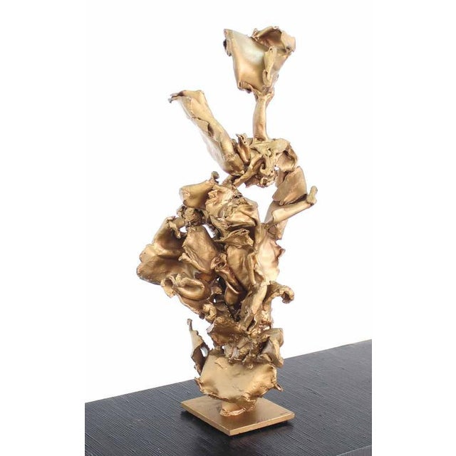 Twisted Metal Flakes Abstract Sculpture For Sale In New York - Image 6 of 8