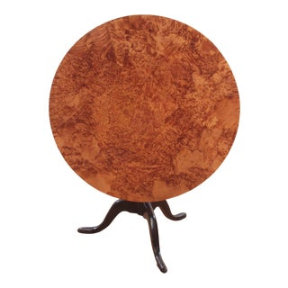 Swedish Alder Root Burl Wood Tilt Top Table, Late 18th/Early 19th Century For Sale