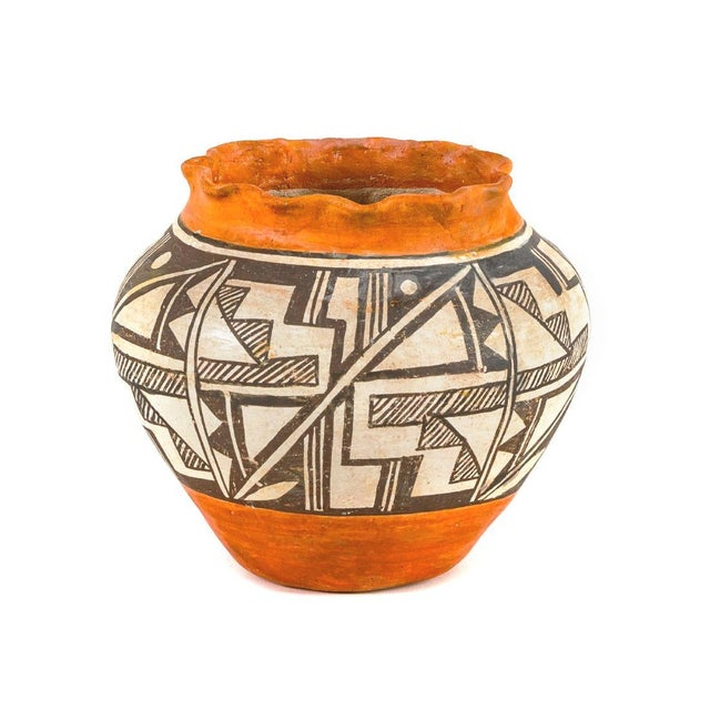 Acoma Pueblo Southwestern Olla Jar For Sale - Image 10 of 12