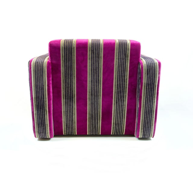 British Airways First Class Striped Club Chair - Image 4 of 10