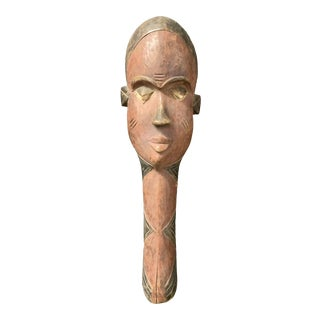African Tribal Art Carved Wooden Pende Mask For Sale