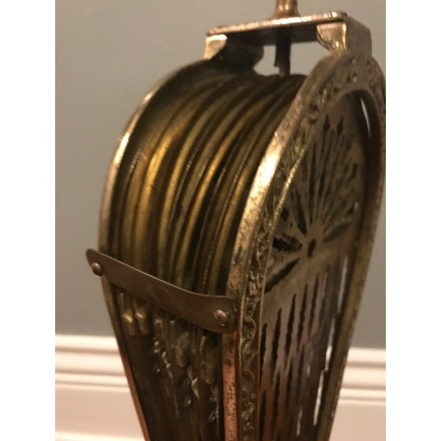"Vintage Brass Peacock ""Phoenix"" Fireplace Screen - Image 6 of 6"