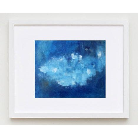 Modern Abstract Blue & White Painting - Image 4 of 4