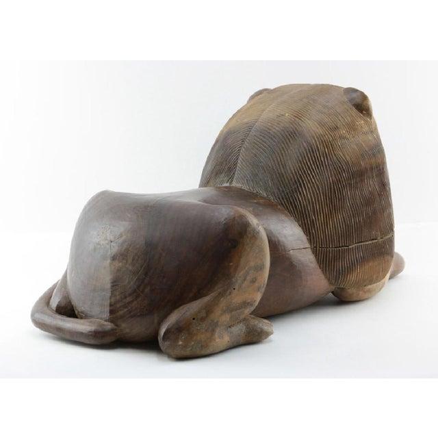 Jacaranda Wood Studio Lion Sculpture - Image 2 of 5