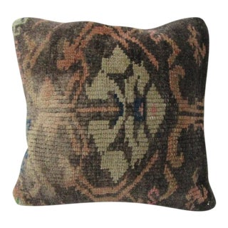 Vintage Handmade Distressed Turkish Pillow Cover For Sale