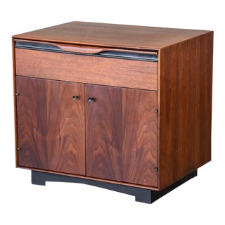 Single Walnut Nightstand by John Kapel for Glenn of California