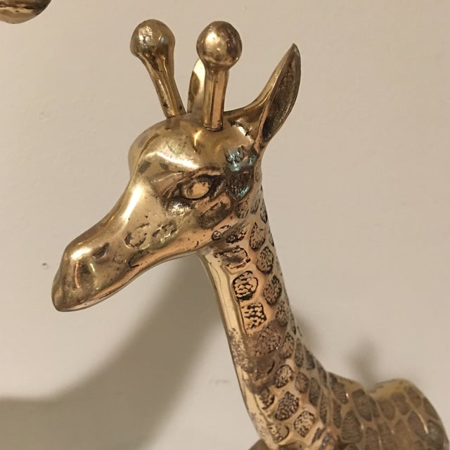 Mid-Century Modern Brass Giraffe - A Pair For Sale In Miami - Image 6 of 9