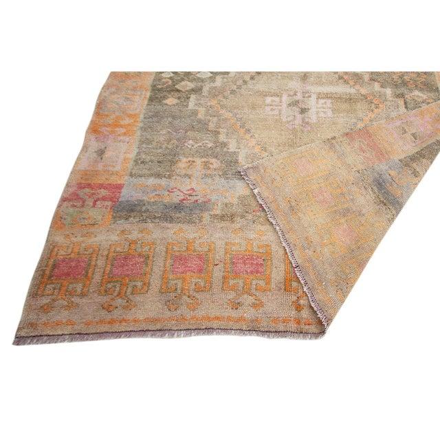 Vintage Washed Out Turkish Kars Rug For Sale - Image 4 of 6