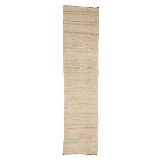 Mid 20th Century Vintage Hemp Kilim Rug-2′2″ × 9′ For Sale