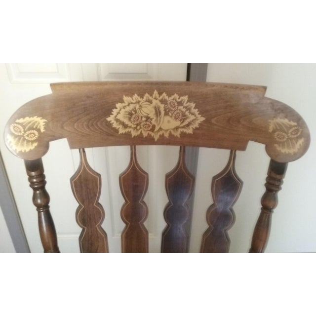 Mid 19th Century Vintage Yugoslavian Rocking Chair For Sale In Pittsburgh - Image 6 of 11