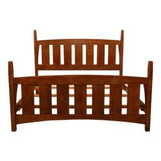 Stickley Mission Oak Gustav Design King Bed For Sale