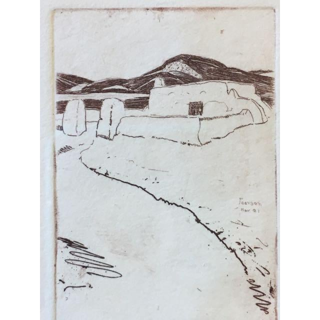 "Illustration ""Taos Nm"" Drypoint Etching Print by Ralph Pearson For Sale - Image 3 of 8"