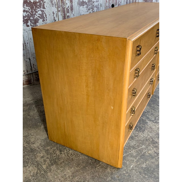 Mid-Century Modern Paul Frankl Ten Drawer Dresser Circa 1950s by Johnson Furniture For Sale - Image 3 of 7