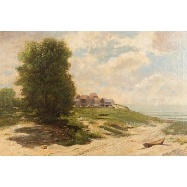 19th-Century Sea Shore Landscape - Image 3 of 10
