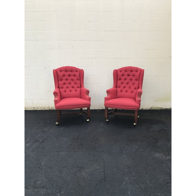 These are seriously amazing and it's hard to even put them up! They are truly beautiful chairs with original upholstery...
