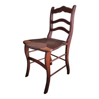 Antique Style Ladderback Chair For Sale