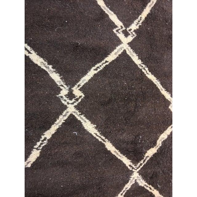 "Organic Moroccan Wool Rug - 9'3"" x 11'4"" - Image 5 of 9"