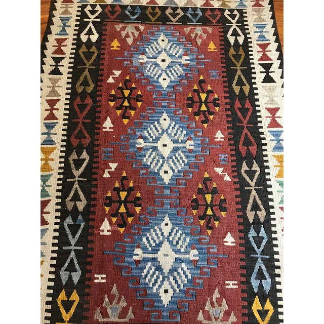 "Vintage Anatolian Kilim - 5'8"" X 3'7"" For Sale In Houston - Image 6 of 9"