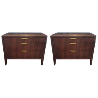 Traditional Barbara Barry Dark Walnut Nightstands - a Pair
