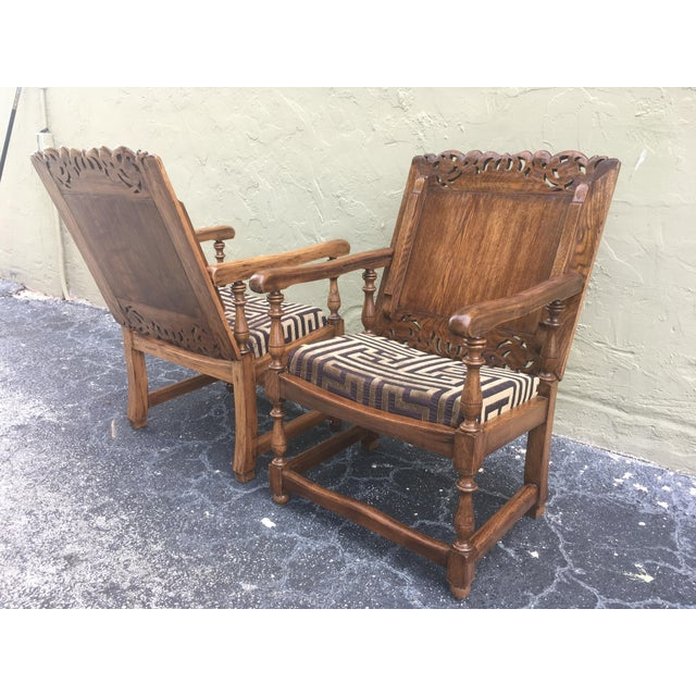 19th Century Convertible Pair of Monk's Chair or End Table,Foldable Armchair For Sale - Image 4 of 11
