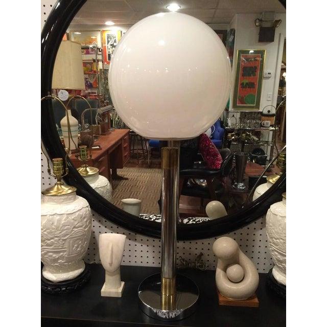 Mid-Century Modern Large Robert Sonneman Style Lollipop Table Lamp For Sale - Image 3 of 12