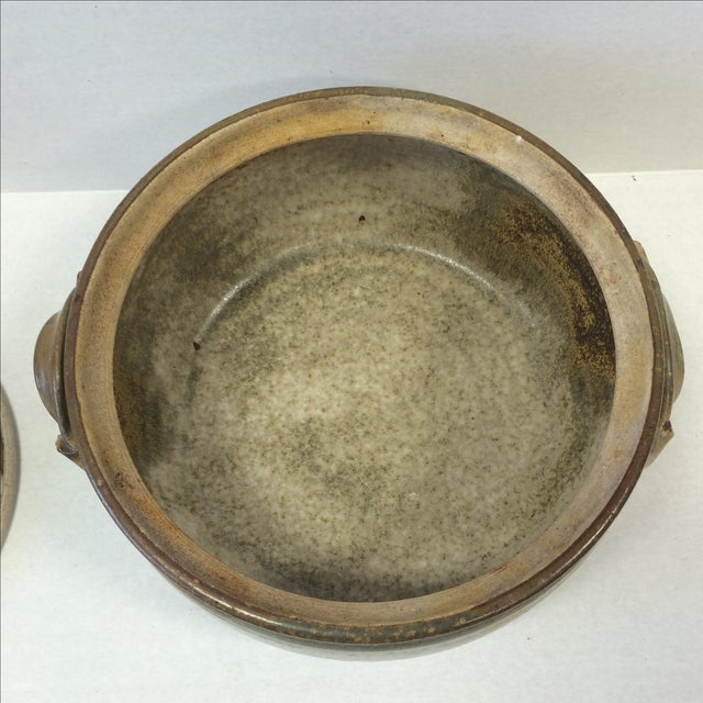 Mid-Century Studio Pottery Bowl and Lid - Image 7 of 11