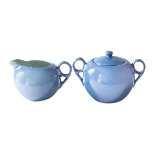 Pearlescent Cream and Sugar Set - Image 1 of 3