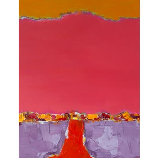 "Bill Tansey ""Red Road"" Abstract Oil Painting on Canvas For Sale"