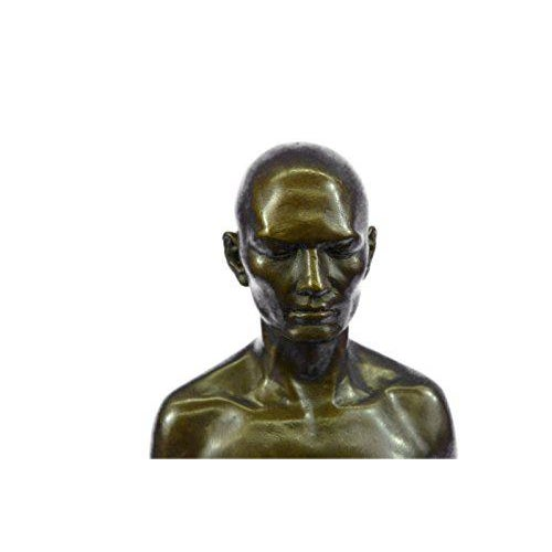 Gold Yoga Sport Edition Bronze Sculpture on Marble Base Figurine For Sale - Image 8 of 9