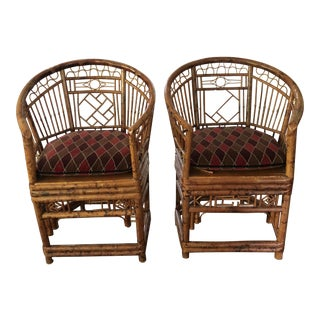 1970s Vintage Bamboo Chairs- a Pair For Sale