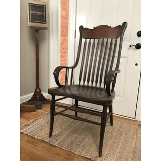 Antique Library Carved Wood Chair Preview